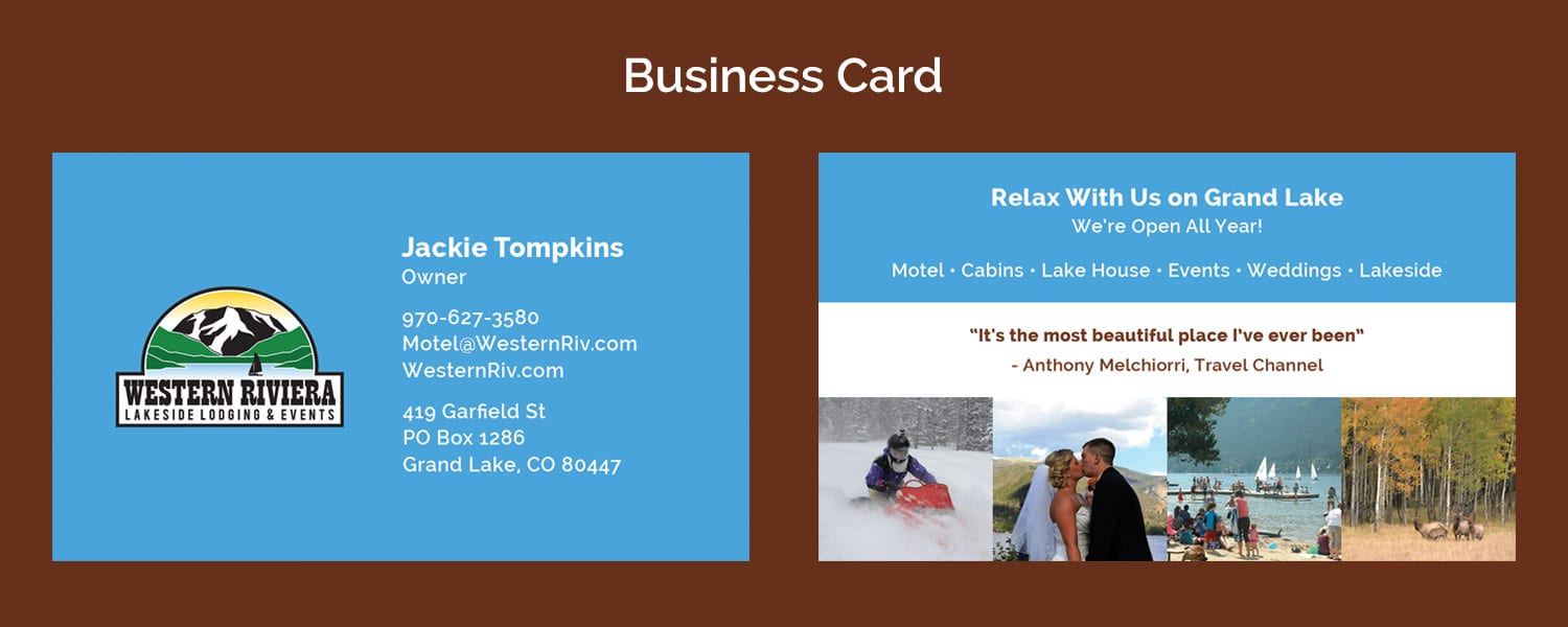 Western Riviera Business Card