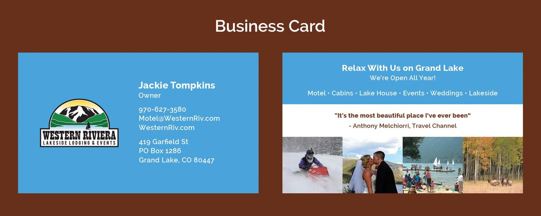 Western Riviera Business Card