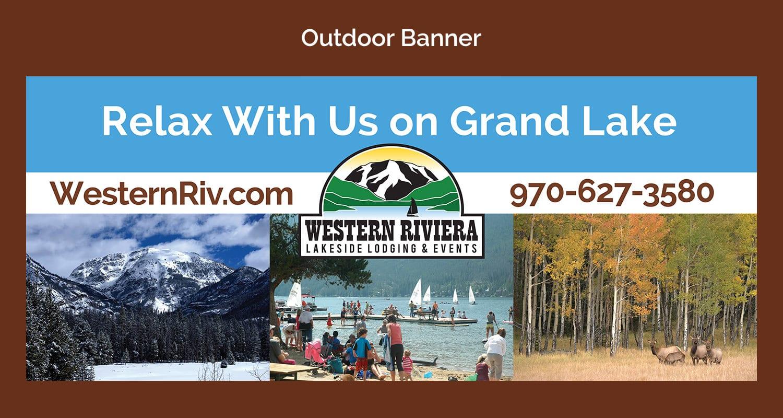 Western Riviera Outdoor Banner