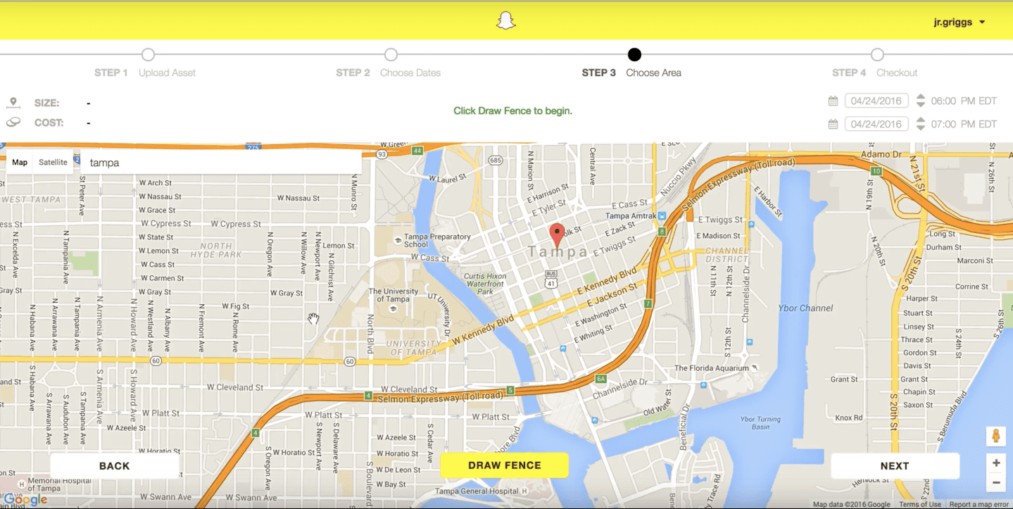 Yes Snapchat On Demand Geofilter Pricing Does Depend on Location - YouTube 2016-06-06 20-30-48