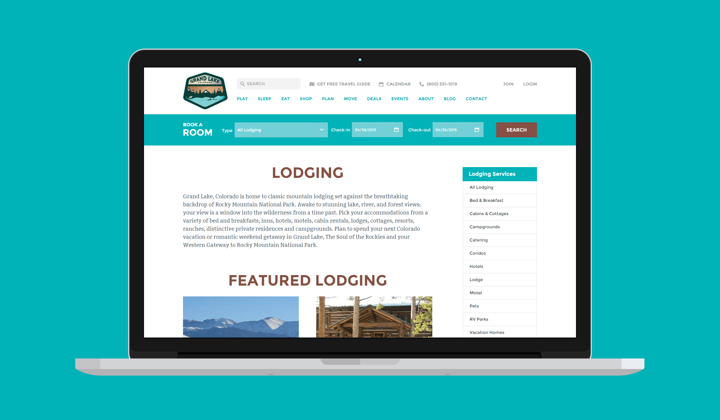Grand Lake Chamber of Commerce Web Design