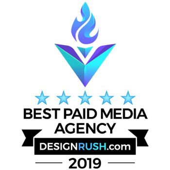 Design Rush Best Paid Media Agency Badge